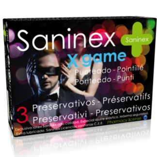 saninex-x-game-preservativos-punteados-aromatizados-3-uds-0