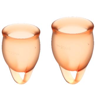 satisfyer-feel-confident-kit-copa-menstrual-naranja--15+20ml-0